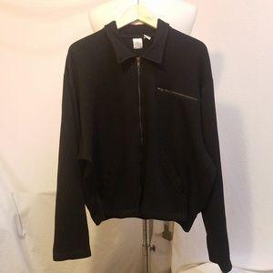 BILL ROBINSON Black Zippered Sweater Jacket, XL